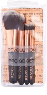 Makeup Revolution Pro Go Set Set mit kleinen Pinseln Travel-Pack