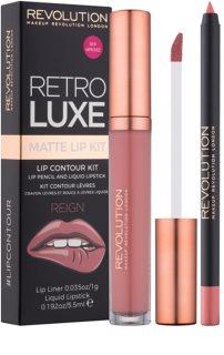 Makeup Revolution Retro Luxe matt szett ajkakra
