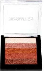 Makeup Revolution Shimmer Brick бронзант и озарител 2 в 1