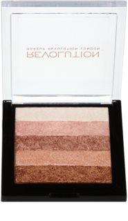 Makeup Revolution Shimmer Brick bronzosító és élénkítő 2 az 1-ben