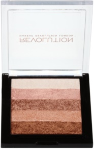 Makeup Revolution Shimmer Brick Bronzer und Highlighter 2in1