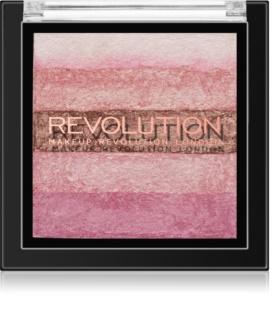 Makeup Revolution Shimmer Brick bronzer a rozjasňovač 2v1