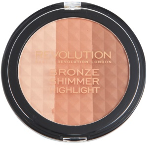 Makeup Revolution Ultra Bronze Shimmer HIghlight highliting Bronzer Puder