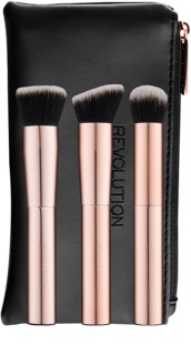 Makeup Revolution Ultra Metals Go pędzel do konturowania w opakowniu podróżnym