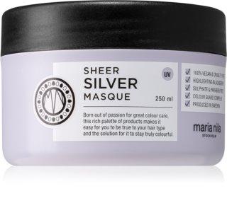 Maria Nila Sheer Silver Feuchtigkeitsspendende Maske mit ernährender Wirkung für blonde Haare