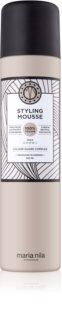 Maria Nila Style & Finish mousse coiffante volumatrice à fixation moyenne sans sulfates ni parabènes
