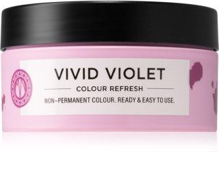 Maria Nila Colour Refresh Vivid Violet Sanfte nährende Maske ohne permanente Farbpigmente