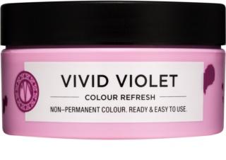 Maria Nila Colour Refresh Vivid Violet fijn voedend masker zonder permanente kleurpigmenten