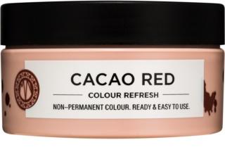 Maria Nila Colour Refresh Cacao Red jemná vyživujúca maska bez permanentných farebných pigmentov