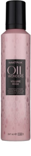 Matrix Oil Wonders Volume Rose Haarschaum für mehr Volumen