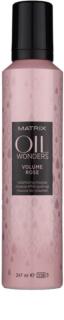 Matrix Oil Wonders Volume Rose Haarschaum für mehr Volumen