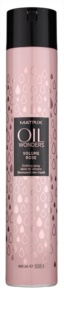 Matrix Oil Wonders Volume Rose lak na vlasy pro objem