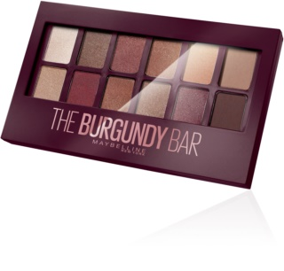 Maybelline The Burgundy Bar paleta očních stínů