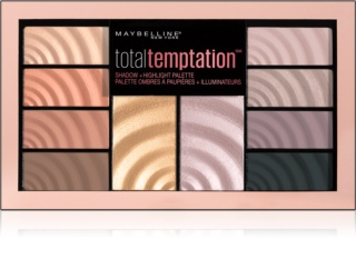 Maybelline Total Temptation Palette mit Lidschatten und Highlightern