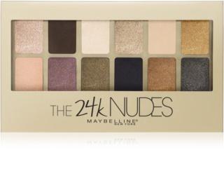 Maybelline The 24K Nudes палетка тіней