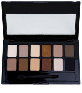 Maybelline The Nudes paleta očných tieňov