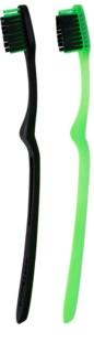 Megasmile Black Whitening Ortho szczoteczka do zębów z węglem aktywnym dla użytkowników aparatów ruchomych i mostków