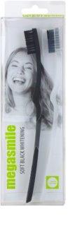 Megasmile Black Whitening Soft zubní kartáček s aktivním uhlím pro citlivé zuby