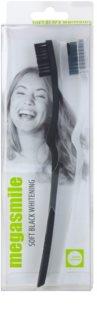 Megasmile Black Whitening Soft escova de dentes com carvão vegetal para dentes sensíveis