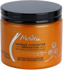 Melvita Hair máscara regeneradora para cabelo seco a danificado