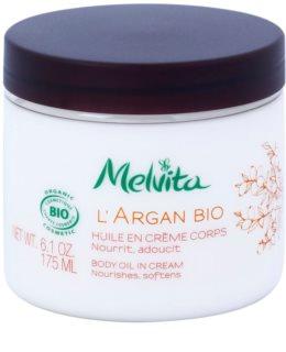 Melvita L'Argan Bio výživný tělový krém pro jemnou a hladkou pokožku