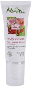 Melvita Pulpe de Rose Verhelderende Crème  tegen eerste Tekenen van Huidverouering