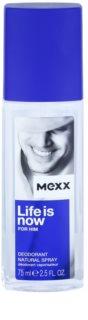 Mexx Life is Now for Him Deo mit Zerstäuber für Herren 75 ml