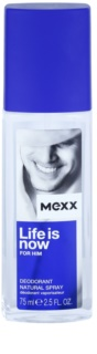 Mexx Life is Now  for Him  desodorante con pulverizador para hombre 75 ml