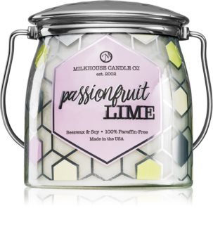 Milkhouse Candle Co. Passionfruit Lime scented candle Butter Jar