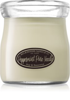 Milkhouse Candle Co. Creamery Peppermint Pine Needle geurkaars Cream Jar