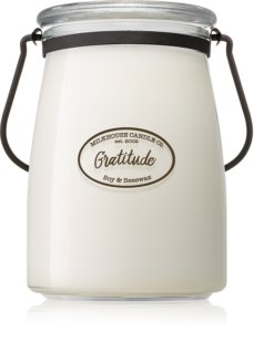 Milkhouse Candle Co. Creamery Gratitude scented candle Butter Jar