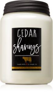 Milkhouse Candle Co. Farmhouse Cedar Shavings mirisna svijeća Mason Jar
