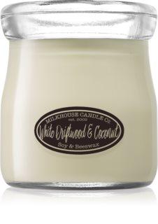 Milkhouse Candle Co. Creamery White Driftwood & Coconut vela perfumada  142 g Cream Jar