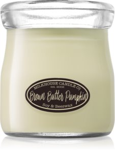 Milkhouse Candle Co. Creamery Brown Butter Pumpkin geurkaars Cream Jar