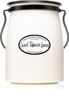 Milkhouse Candle Co. Creamery Sweet Tobacco Leaves Αρωματικό κερί 624 γρ Butter Jar