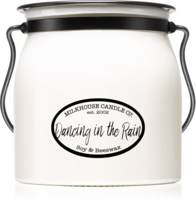 Milkhouse Candle Co. Creamery Dancing in the Rain doftljus Butter Jar