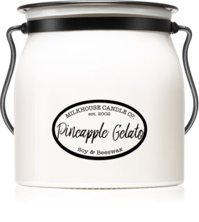 Milkhouse Candle Co. Creamery Pineapple Gelato bougie parfumée Butter Jar