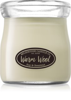 Milkhouse Candle Co. Creamery Warm Wool vela perfumado 142 g Cream Jar