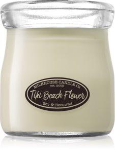 Milkhouse Candle Co. Creamery Tiki Beach Flower dišeča sveča  Cream Jar 142 g