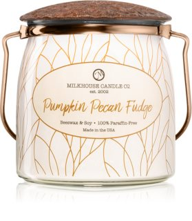 Milkhouse Candle Co. Creamery Pumpkin Pecan Fudge bougie parfumée Butter Jar