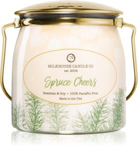 Milkhouse Candle Co. Creamery Spruce Cheers bougie parfumée Butter Jar