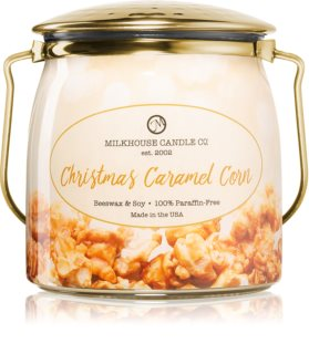 Milkhouse Candle Co. Creamery Christmas Caramel Corn geurkaars Butter Jar