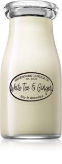 Milkhouse Candle Co. Creamery White Tea & Ginger Duftkerze  228 g Milkbottle