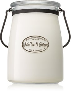 Milkhouse Candle Co. Creamery White Tea & Ginger vela perfumada  624 g Butter Jar