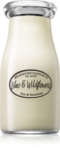 Milkhouse Candle Co. Creamery Lilac & Wildflowers vela perfumado 227 g Milkbottle