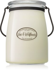 Milkhouse Candle Co. Creamery Lilac & Wildflowers Αρωματικό κερί 624 γρ Butter Jar