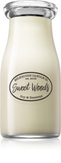 Milkhouse Candle Co. Creamery Sweet Woods scented candle Milkbottle 227 g