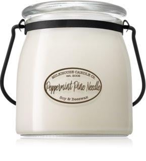 Milkhouse Candle Co. Creamery Peppermint Pine Needle Geurkaars 454 gr Butter Jar