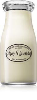 Milkhouse Candle Co. Creamery Citrus & Lavender dišeča sveča  227 g Milkbottle