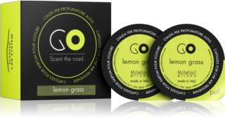 Millefiori GO Lemon Grass parfum pentru masina 2 buc Refil